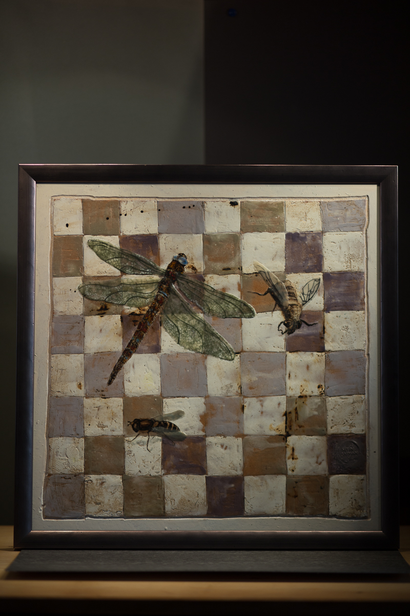 Chess series 1 - insects - beeswax on masonite - Stein Frayman